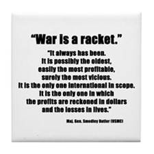 War is a Racket Tile Coaster