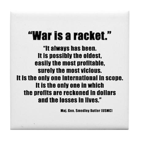 War is a Racket Tile Coaster