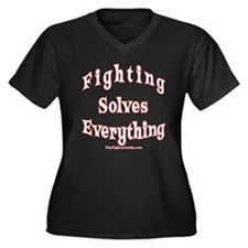 Fighting Solves Everything Women's Plus Size V-Nec