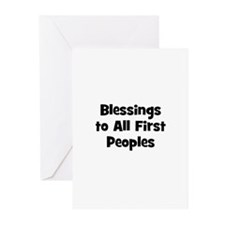 Blessings to All First People Greeting Cards (Pk o