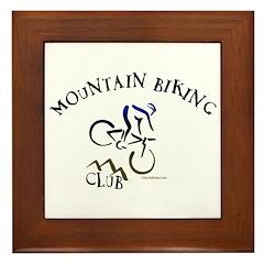 MOUNTAIN BIKING CLUB Framed Tile