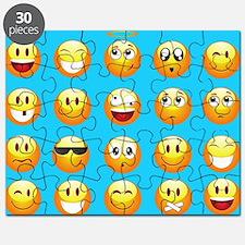 aqua blue emojis Puzzle