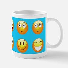 aqua blue emojis Mugs