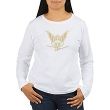 ClassicEagle_Gold(WH) Long Sleeve T-Shirt