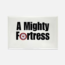 A Mighty Fortress Rectangle Magnet