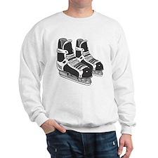 Black Hockey Skates Sweatshirt