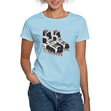 Black Hockey Skates T-Shirt
