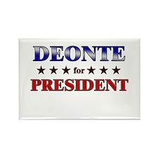 DEONTE for president Rectangle Magnet