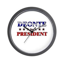 DEONTE for president Wall Clock