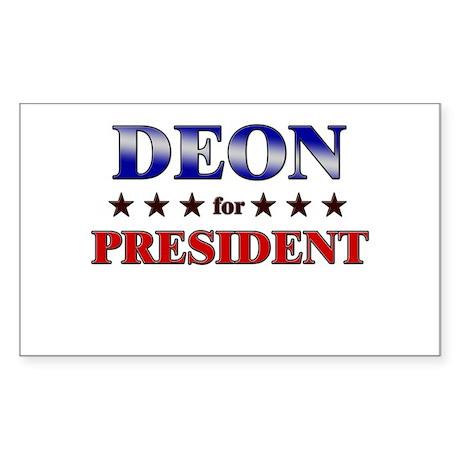 DEON for president Rectangle Sticker