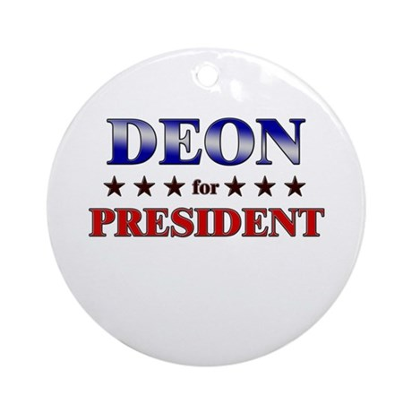 DEON for president Ornament (Round)
