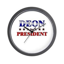 DEON for president Wall Clock