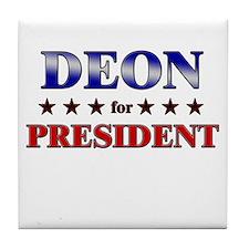 DEON for president Tile Coaster