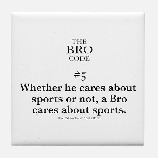 Bro Code #5 Tile Coaster
