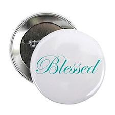 """Aqua Blessed 2.25"""" Button"""