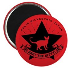 """Obey the KITTY! 2.25"""" Magnets (10 pack)"""