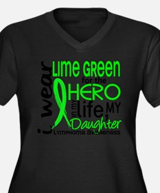 Hero in Life 2 Lymphoma Plus Size T-Shirt
