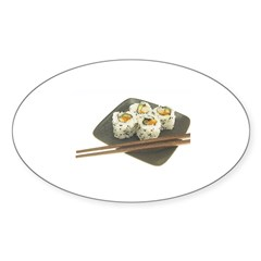 Sushi Out! Oval Sticker
