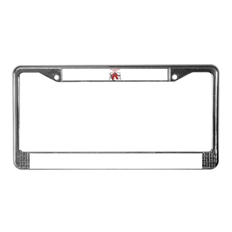 The puck stops Here!! License Plate Frame