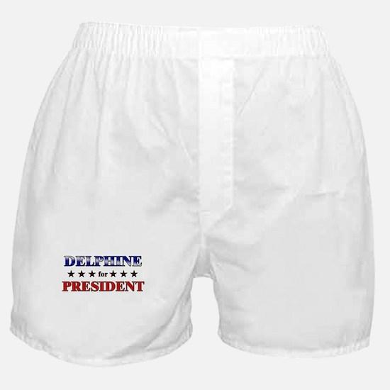 DELPHINE for president Boxer Shorts