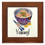Yummy Dumpling Framed Tile