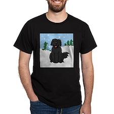 Newfie - Snow (Sq) - T-Shirt