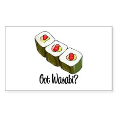 Got Wasabi? Rectangle Decal