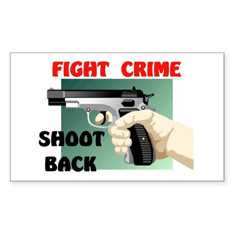FIGHT CRIME Rectangle Sticker