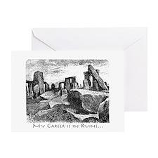 Archeology Career Ruins Greeting Card