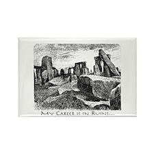 Career Ruins Stonehenge Rectangle Magnet