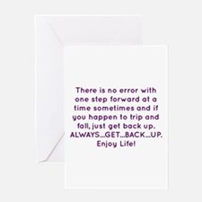 Get Back Up Greeting Cards