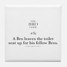 Bro Code #81 Tile Coaster