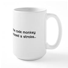 LargeMug PEBKAC Error Code Monkey Missed A Stroke
