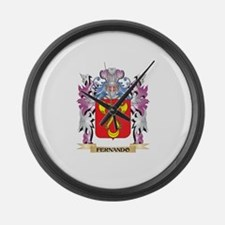 Fernando Coat of Arms (Family Cre Large Wall Clock