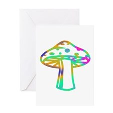 Psychedelic Shroomz Greeting Card