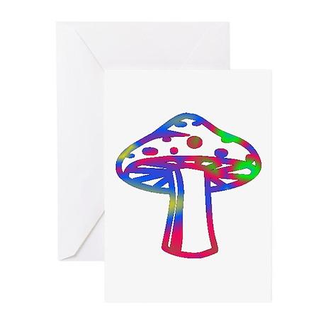 Rainbow Retro Shroomz Greeting Cards (Pk of 10)