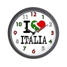 I Love Italia Wall Clock
