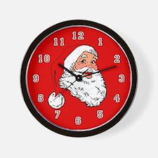 Santa Christmas Wall Clock