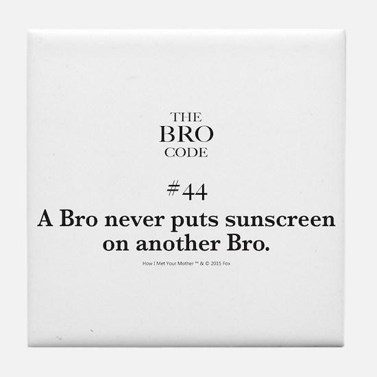 Bro Code #44 Tile Coaster
