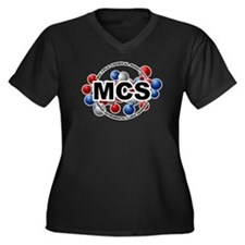 MCS Women's Plus Size V-Neck Dark T-Shirt