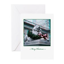 NYC Lion 3D Christmas Cards (Pk of 10)