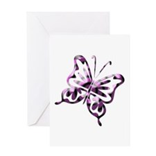 Purple and Black Retro Butter Greeting Card