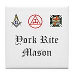 York Rite Mason Tile Coaster