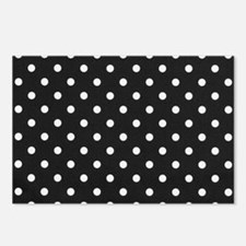 black white polka dots Postcards (Package of 8)