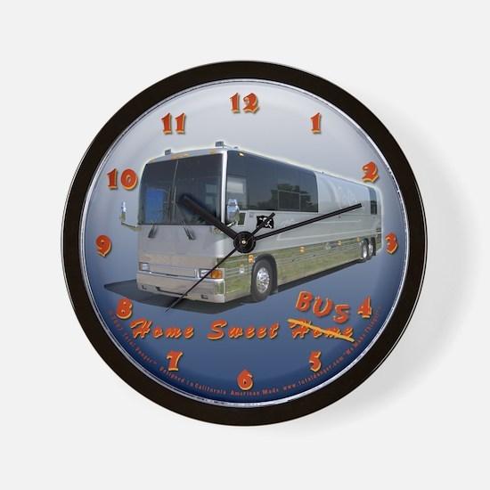 Tour Bus #1 Wall Clock