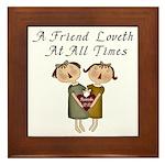 Proverbs 17:17 Framed Tile