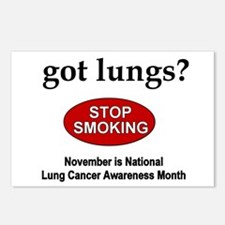 Lung Cancer Awareness Postcards (Package of 8)