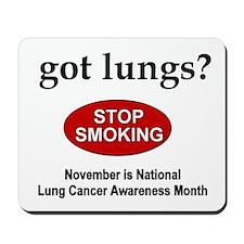 Lung Cancer Awareness Mousepad