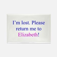 Lost Elizabeth Rectangle Magnet