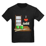 I Love Sushi Kids Dark T-Shirt